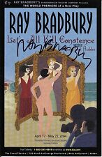 "Ray Bradbury Signed LET'S ALL KILL CONSTANCE Large Postcard 5.5"" x8.5"""