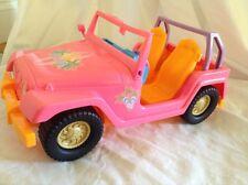 Barbie & Ken Malibu Beach Cruiser By Mattel 2008 Pink & Orange Jeep Car Vehicle