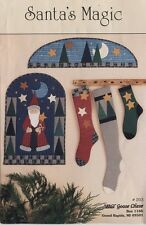 Santa's Magic Christmas quilt pattern stocking winter hoilday wallhanging tree
