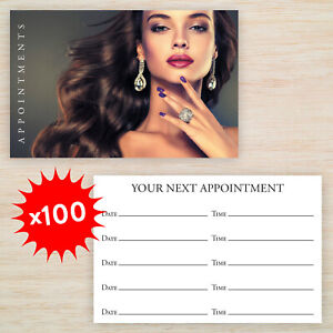 100 x Appointment Cards Hairdresser Salon Double Sided Free Storage Box Freepost