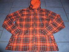schöne Damen Softshelljacke Jacke mit Kapuze leicht gefüttert Gr. 42 44 orange
