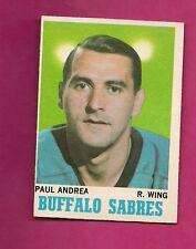 1970-71 OPC # 77 SABRES PAUL ANDREA  ROOKIE EX-MT CARD (INV# A1735)