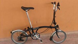 Brompton M6L black 2012 folding bike , good condition , World shipping.