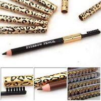 1PC Waterproof Eyebrow Pencil With Brush Leopard Print Long Lasting Makeup