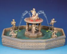 NEW LEMAX VILLAGE COLLECTION Lighted Village Square Fountain #14663