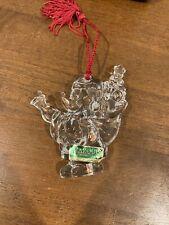 Marquis Waterford Lead Crystal Disney Santa Mickey Ornament