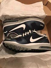 Nike Lunarmx+ Vortex, Blue/Silver/Black/White Sneaker, Size 9.5 Men's