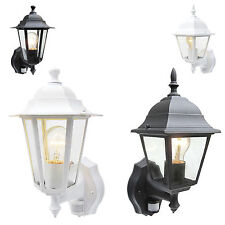 Black / White PIR Outdoor Floodlight Movement Sensor Home Security Coach Lantern