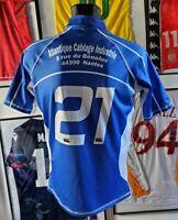 Maillot jersey shirt maglia rugby worn porté france stade treillierain nantes XL