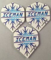 Darts Flights Set of 3 Gerwyn Price Iceman Hardcore 100 Micron Red Dragon