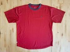 Nike Red Ringer T-Shirt Mens Sz Large Dri-Fit Technical Running Exercise