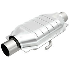 "Magnaflow 93514 Weld-On High-Flow Catalytic Converter Oval 2"" In/Out w/ Air Tube"