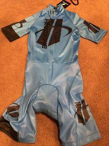 Amazing Hincapie Axis Skinsuit Speedsuit Trisuit Sz XS, Sky blue & Black