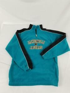 Kids Youth Reebok Jacksonville Jaguars NFL 1/4 Zip Pullover Fleece XL 18/20