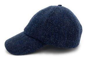 Harris Tweed Navy Made in Scotland Baseball Adjustable Cap Unisex