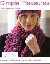 Simple Pleasures -Classic Elite Yarns 9077- 14 hand knitting & crochet patterns