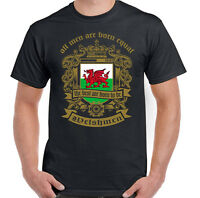 Men Are Born Equal Welsh Mens T-Shirt Flag Wales Football Rugby St Davids Day
