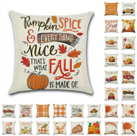 Fall Thanksgiving Autumn Rustic Cushion Cover Pillow Case Sofa Home Decor Art