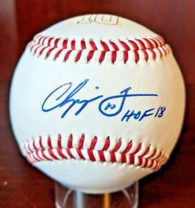 Chipper Jones HOF 18 Signed Autographed Custom Baseball Braves PSA/DNA Cert Case