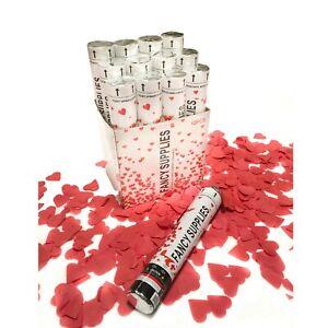 Red Heart Confetti Cannon Celebrate Party Popper anniversary photo model bride