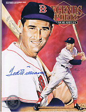 Ted Williams Autograph / Signed Legends Sports Magazine Boston Red Sox (D5)