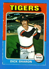 1975 Topps GLOSSY  DICK SHARON (Detroit Tigers)  Extremely RARE Proto-Type