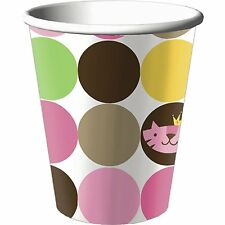 QUEEN OF THE JUNGLE BABY SHOWER Party Supplies Beverage Drink Cups (8 Pk)