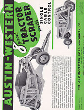 VINTAGE AD SHEET #3083 - AUSTIN WESTERN 8 YARD TRACTOR SCRAPER