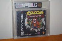 Crash Bandicoot (PS1 PSX Playstation) NEW SEALED BLACK LABEL, MINT GOLD VGA 85+!