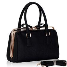 Década de 1950 de estilo vintage y retro Estilo Clásico Rockabilly Grab Bag Bolso de Mano Cartera de colegial-Negro