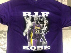 Kobe Bryant L Large purple shirt clothing t-shirt NBA tribute