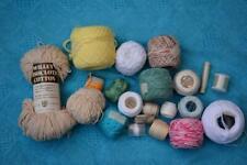 Vintage DMC-Milford-Coats KNIT/CROCHET COTTON 20 x New/Part Balls. Multi Colours