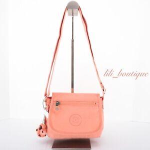 NWT Kipling AC8280 Sabian Crossbody Mini Shoulder Bag Polyamide Peachy Coral $49