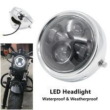 "1PCS 6.5"" 6000K Metal LED Headlight Motorcycle Cafe Racer Head Lamp Projector"
