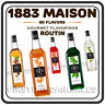 1883 Maison Routin Syrup Sauce Soda Cocktail Beer Liqueur Milk Cold Hot Drinks