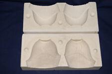 Vtg Ceramic Pottery Slip Casting Mold - (2) Art Deco Tapered Bowls