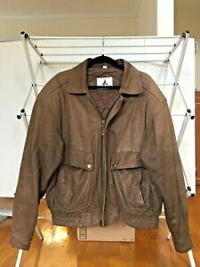 Vintage Misty Harbor Org Bomber leather Jacket A-2 Flight Jacket Motorcycle Sz M