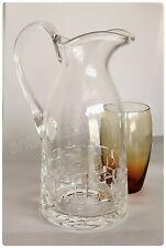 Pichet broc à eau en cristal de Saint Louis pour Hermès Paris modèle Adage neuf