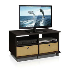 Furinno Andrey Entertainment Center with Bin Drawers, Espresso/Brown