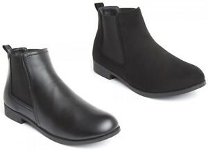 Womens Chelsea Boots Ankle Boots Suede Leather Boots Casual Shoes New Sizes 3-8