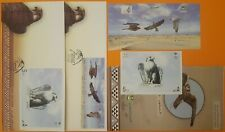 Saudi Arabia Falcons Mini Sheet, Miniature Sheet, 2 FDC, Brochure 2020 MNH