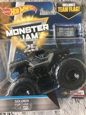 Bnib Monster Jam Hot Wheels Soldier Fortune  Truck 1:64 size Diecast New Nib #9