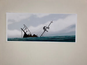 JC Richard Mini Print Poster Jaws Battle Amity 74 Giclee Limited Edition Signed!