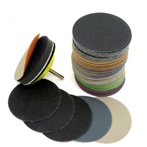 75mm Wet And Dry Sanding Discs 3Inch Sandpaper Hook & Loop Pads Grit 60-10000