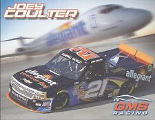"2014 JOEY COULTER ""ALLEGIANT"" #21 GMS RACING NASCAR CAMPING WORLD TRUCK POSTCARD"