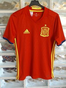 SPAIN Retro 2015/16 Home Soccer Jersey Football Shirt Trikot Camisa Maillot UEFA