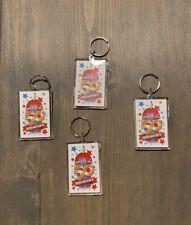 """Icee Slurpee Lot Of 4 Plastic Keychains 50th Iceeversary Celebration Size: 3""""x2"""""""