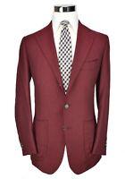 * Cesare Attolini * Domenico Vacca Red Black Herringbone Cashmere Jacket 38 R US