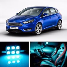 8pcs LED ICE Blue Light Interior Package Kit for Ford Focus 2012-2015