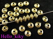 500 Antiqued gold plt tiny top spacer beads 4x3mm A149